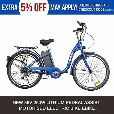 New Blue 250W Electric Bike 36V Ebike Urban Scooter City Bicycle Lithium Battery