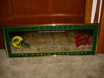 1997 Mirror Sign Green Bay Packers World Champions Super Bowl 31 XXXI Man Cave