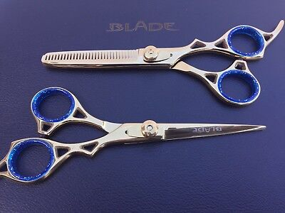 Professional Hairdressing Scissors Barber Haircutting Shears Set Gold 6""