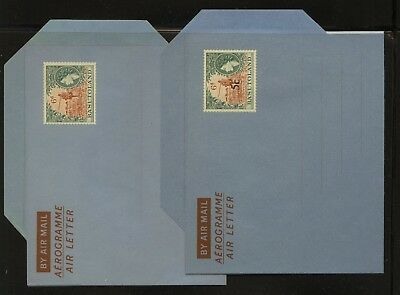 Basutoland   2 air letter sheets,  one  revalued  unused      MS1118