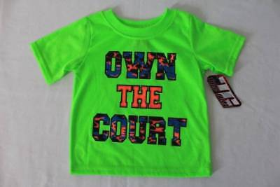 NEW Baby Boys T Shirt Size 12 Months Basketball Tee Green Top Sports Clothes
