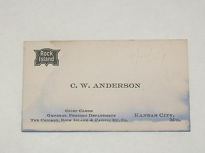Vintage Chicago Rock Island & Pacific Railway Freight Railroad Rr Business Card