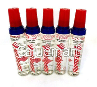 BUTANE Refill 18 ml fuel fluid for Lighter Single Double Triple Torch Various PC