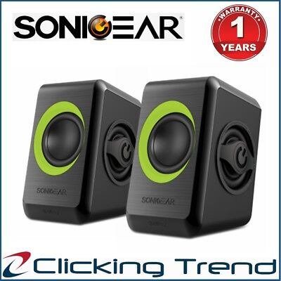 Computer Speakers SonicGear Quatro 2 USB Powered Bass Loud Style Speakers Green