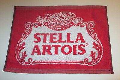 "Stella Artois Bar Towel Beer New Golf Red White USA Made 16"" x 11"""