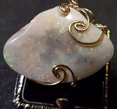 Opal sea shell pendant(fossilised)