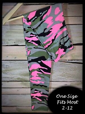 Pink Camo One Size Amazing Buttery Soft Leggings