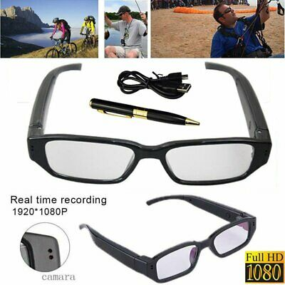 Mini HD Spy Camera Glasses 1080P Hidden Eyeglass Sunglasses Cam Pen Camera USA