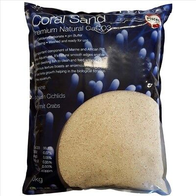 Coral Sand Pure Aragonite Marine fish tank African Cichlid Substrate 1-2mm 5kg