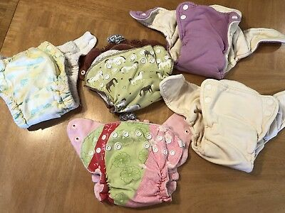 Fitted Cloth Diapers lot of 5 Wham Muttaquin dream eze