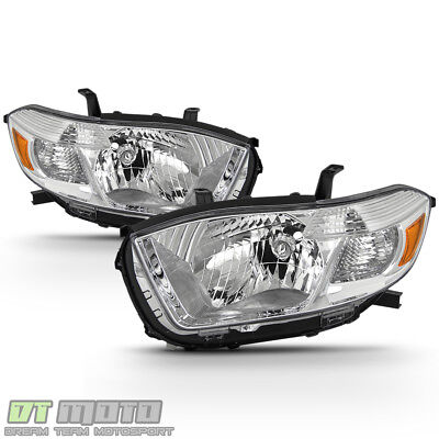 Left+Right 2008 2009 2010 Toyota Highlander Headlights Headlamps Lights Lamps