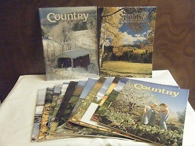 Lot Of 14 Vintage Country  Magazines (1991-1999) Live & Long For Country Life