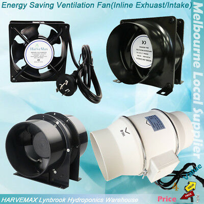 "AC Fan 4"" Intake Exhaust Axial Vent Fan 2 Speed Fan 6"" Ventilation Silent Fan"