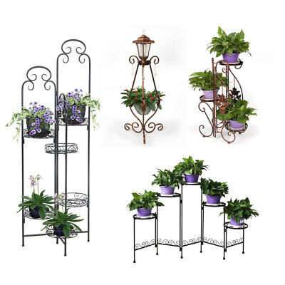 YP Garden Metal Plant Stand Flower Rack Pot Corner Stand for Home office Gift