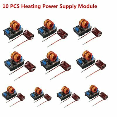10 PCS 5V-12V Low Voltage ZVS Induction Heating Power Supply Module + Coil AN