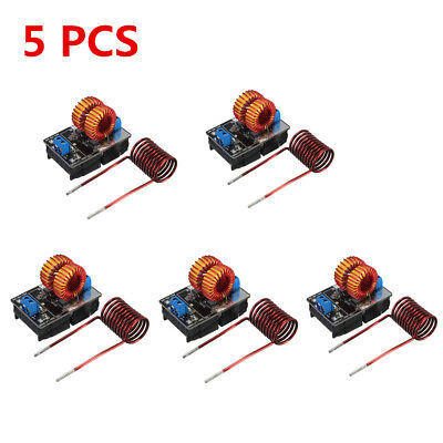 5 PCS 5V-12V Low Voltage ZVS Induction Heating Power Supply Module + Coil Lot AN