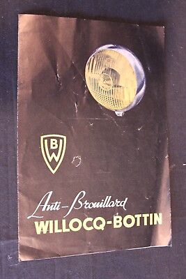 Brochure WB ( Willocq-Bottin ) Anti-Brouillard (Vintage brochure)