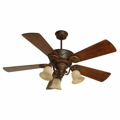 Chaparral Aged Bronze Ceiling Fan with 54-Inch Premier Hand-Scraped Walnut