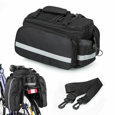 Bicycle Bike Outdoor Rear Rack Bag - Removable Carry Carrier Saddle Bag