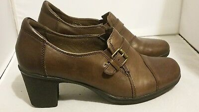 05ab4191b4848 G.H. BASS & Co. Women's Brown Leather Slip On Heels