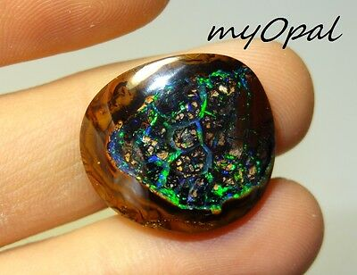 +++ TOP GEM Koroit Yowah Boulder Opal aus Australien - VIDEO FUNKTIONIERT !!