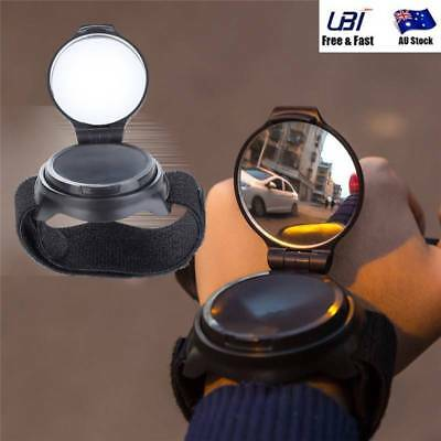 Hand Wrist Mounted Mirror Band For Bicycle MTB Bike Street Road Riding Safety