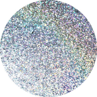 Glitter Paint Additive 100g - Holographic Diamond Silver Emulsion Varnish Walls