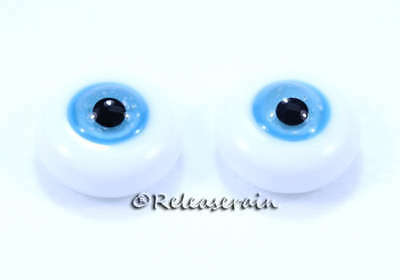 Doll Glass Eyes 18mm Blue Sky Iris with Black Pupil #MC02 For BJD Dollfie Reborn