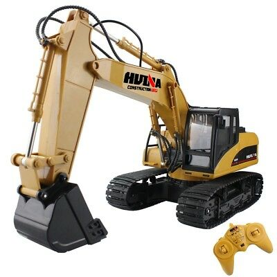 Remote Control Excavator Rc Tractor Bulldozer Crawler Metal Digger Truck Toy New
