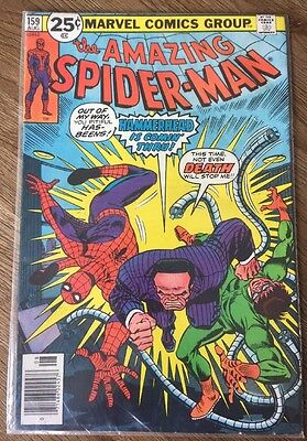 Amazing Spider-Man #159 Comic Aug 1976 Doc Ock Hammerhead Is Coming Thru! Marvel