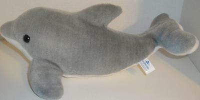 """Official Seaworld Talking Shaking Grey Dolphin 15"""" Plush Sounds Animated Toy"""