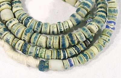 Ancient Blue Glass Beads African Trade Faience Mummy Roman Excavated
