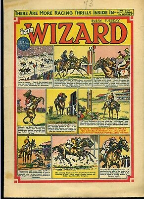 The Wizard 15 Sept 1951 + 12 Famous Footballers - D C Thomson - Free Postage