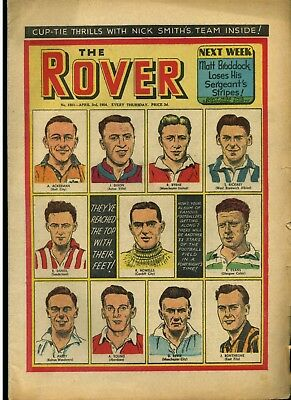 The Rover No. 1501 - 3 April 1954 + 11 Famous Footballers - D C Thomson