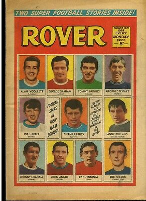 The Rover 16 Aug 1969 + 11 Famous Footballers - D C Thomson - Free Postage