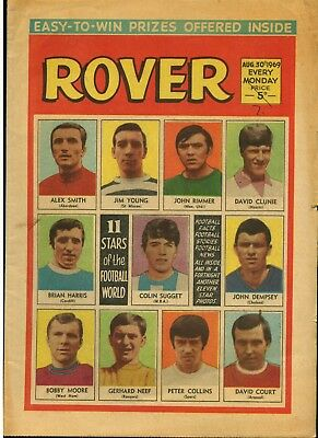 The Rover 30 Aug 1969 + 11 Famous Footballers - D C Thomson - Free Postage