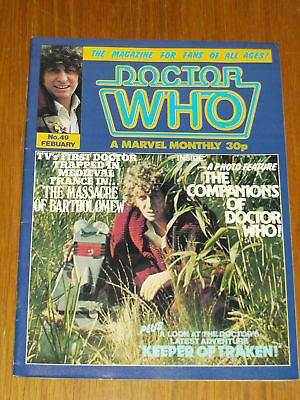 Doctor Who #49 1981 Feb British Weekly Monthly Magazine Dr Who Dalek Cybermen
