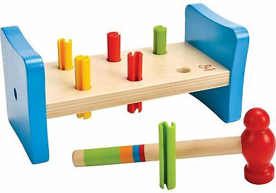 Hape FIRST POUNDER Baby/Toddler/Child Wooden Learning Toy/Gift Shapes BN