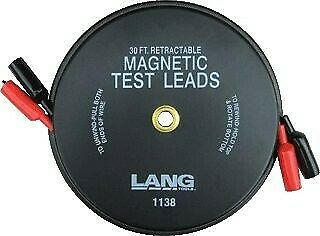 New Kastar Magnetic Back Retractable Test Leads 2x30Ft KS1138