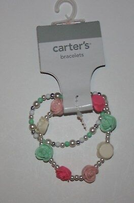 New Carter's 2 Strand Plastic Roses and Beaded Bracelet NWT Jewelry Accessory