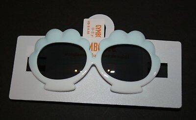 New Gymboree Clam Shell Mermaid Cove Sunglasses White Mint Green Size 4 & Up NWT
