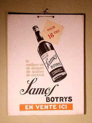 Vintage Original French 1950s Mid Century Muscat Wine Advertising Sign Poster !!