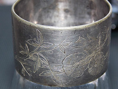 Alfenide Production Christofle Napkin Ring Decoration With Bird Silver Plate