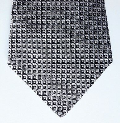 Silver check Turnbull & Asser tie All silk English tie vintage 1980s 1990s