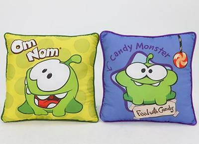 "Cut the Rope 12"" (30cm) OM NOM Square Cushion Pillow 2 to choose"