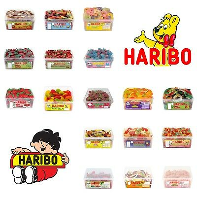 1 Tub HARIBO Sweets Candy Box Jelly Box Party Treats Fruits Gum Fizzy Sour Cola