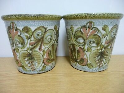 A Pair Large Denby Planters, Flower Pots designed by Glyn Colledge, Mid century