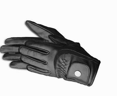 Equestrian Winter Horse Riding Gloves LADIES Genuine Leather High Quality Black