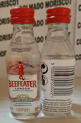 LONDON DRY GIN BEEFEATER 5cl 40% ENGLAND PLASTIC  mignonette mini bottle (B)