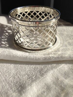 One Solid siver Mappin & Webb Latice Napkin Ring , 9 available